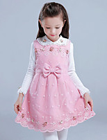 Girl's Casual/Daily Print Dress / TeeCotton / Polyester Winter / Spring / Fall Pink / Purple