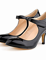 Women's Heels Spring / Fall Heels / Comfort / Round Toe Patent Leather Office & Career / Dress / Casual Stiletto Heel