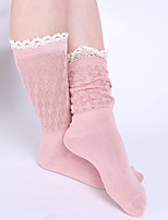 Women's Fashion Lace Hollow Out Cotton Socks