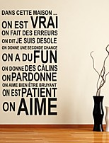 AYA DIY Wall Stickers Wall Decals French Words & Quotes Stickers
