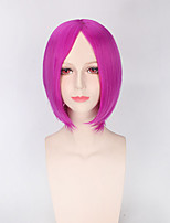 Fashion Short Straight Rose Color Cosplay Synthetic Wigs