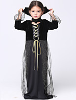 Inspired by SoulEater C.C. Anime Cosplay Costumes Cosplay Suits Solid Black Long Sleeve Dress / Shawl