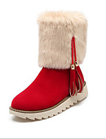 Women's Boots Fall / Winter Fashion Boots Leatherette Outdoor / Dress / Casual Wedge Heel Others Black /