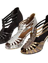 Customizable Women's Latin Ballroom Dance Shoes Sparkling Glitter Salsa Sandals Heels Customized Black/Silver/Gold
