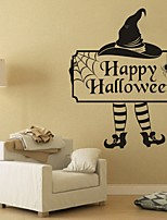 AYA DIY Wall Stickers Wall Decals Halloween Decoration Happy Halloween Type PVC Panel Wall Stickers 55*66cm
