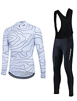 Cycling Jersey with Bib Tights Men's Long Sleeve Thermal / Warm / Windproof Bike Clothing Sets/Suits Fleece Winter