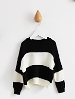 Girl's Casual/Daily Striped Blouse / Sweater & CardiganCotton Spring / Fall Black