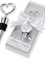 Chrome Bottle Favor Bottle Stopper Classic Theme Non-personalised White 6*14*2.5cm Kitchen Barware tool favors