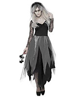 Cosplay Costumes / Party Costume Ghost Festival/Holiday Halloween Costumes Black Solid Dress / More Accessories / Headwear Halloween