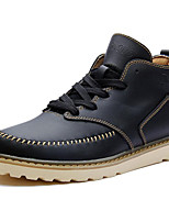 Unisex Oxfords Spring/Fall/Winter Cowboy/Western Boots/Combat Boots Nappa Leather Casual Outdoor Black/Brown/White