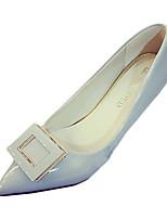 Damen-High Heels-Lässig-PU-Stöckelabsatz-Absätze-Schwarz / Rosa / Rot / Silber / Grau