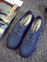 Men's Sneakers Summer Closed Toe Canvas Outdoor Flat Heel Lace-up Blue Others