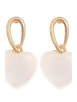 New Earings Fashion Jewelry Gold Plated Cute White Peach Heart Opal Drop Earrings For Women Vintage Earring brinco