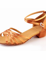 Non Customizable Kids' Dance Shoes Suede Suede Ballet / Latin Heels Low Heel Practice Black / Silver / Gold / Leopard