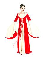 Costumes Plus de costumes Halloween Rouge Couleur Pleine Térylène Robe / Plus d'accessoires