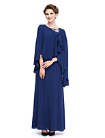 Lanting Bride® Lanting Bride Sheath / Column Mother of the Bride Dress Ankle-length Georgette with Crystal Brooch