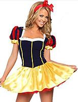 Costumes Déguisements thème film & TV Halloween Jaune / Bleu Couleur Pleine Térylène Robe / Plus d'accessoires