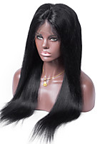 Top Quality 100 Peruvian Human Hair Silky Straight Full Lace Wig For Women
