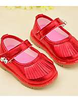 Girl's Sandals Spring / Summer / Fall Comfort Leather Outdoor Flat Heel Tassel Pink / Red Walking
