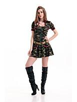 Costumes Plus de costumes Halloween / Fête d'Octobre Vert Imprimé Térylène Robe / Plus d'accessoires