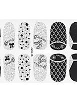 12Pcs/Sheet Стикер искусства ногтя 3D наклейки на ногти Мультипликация / Милый макияж Косметические Nail Art Design