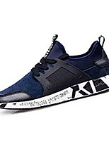 Men's Sneakers Spring / Fall Comfort PU Casual Flat Heel Black / Blue Sneaker