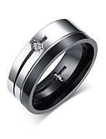 Ring Circle Steel Circle Silver Jewelry For Daily 1pc