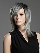 couleur assortie moyenne droite capless de cheveux humains perruque de cheveux humains