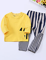 Boy's Casual/Daily Solid Clothing SetCotton Spring / Fall Yellow