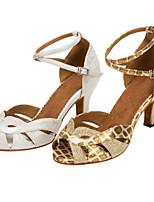 Customizable Women's Dance Shoes Leatherette / Sparkling Glitter Latin / Salsa Sandals / HeelsCustomized