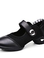 Для женщин-Кожа / Ткань-Не персонализируемая(Черный / Красный / Белый) -Танцевальные кроссовки
