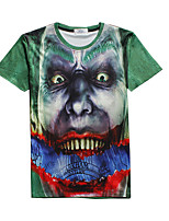 New Fashion Men Zombie Crew Neck Short Sleeve Men 3d T-shirt