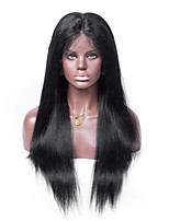 No shedding No tangle Straight Human Hair Swiss Lace 130% density Human Hair Full Lace Wig