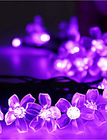 Solar Christmas Lights Petals 23ft 50 LED Waterproof Solar Light String Outdoor for Gardens,Wedding,Christmas Tree