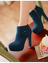 Women's Boots Spring / Fall / Winter Combat Boots PU Outdoor Chunky Heel Buckle / Zipper Blue / Yellow / Red Others