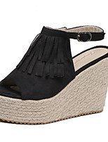 Women's Sandals Summer Sandals / Open Toe PU Casual Wedge Heel Others Black / Gray / Coffee Others