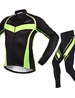 Esportivo® Jaqueta com Calça para Ciclismo Homens Manga Comprida Mantenha Quente / A Prova de Vento / Confortável MotoConjuntos de