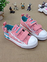 Unisex Flats Spring / Fall Flats Canvas Casual Flat Heel Others Blue / Pink Others