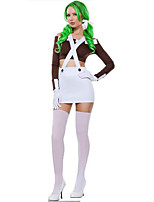 Cosplay Costumes Party Costume Princess Fairytale Festival/Holiday Halloween Costumes White Solid Top SkirtHalloween Christmas Carnival