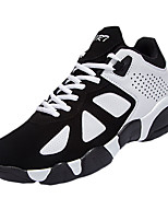 Unisex Sneakers Fall Round Toe Suede Outdoor Flat Heel Lace-up Black / Pink / Black and White Sneaker