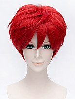 Fashion Short Curly Wig Red Color Synthetic Cosplay African American Wig