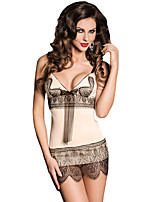 Women's Apricot Sassy Flapper Dress & Thong