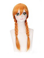 Fashion Braids Wigs Orange Color Synthetic Cosplay African American Wigs