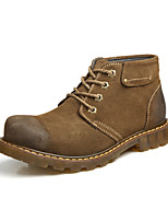 Men's Boots Fall Snow Boots Leatherette Casual Platform Lace-up Khaki Coffee Other