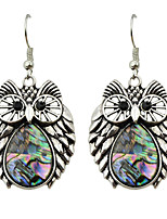 Earring Owl Jewelry Women Fashion / Bohemia Style Party / Daily / Casual Alloy 1 pair Silver