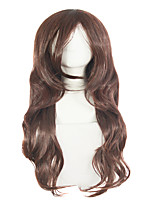 EBay Long Curly Brown Hair Inclined Bang Temperament Girl Wigs