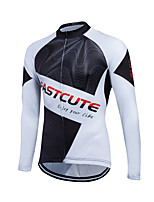 Fastcute® Cycling Jersey Men's Long Sleeve Bike Breathable / Lightweight Materials / Back Pocket / Sweat-wicking / Comfortable Jersey