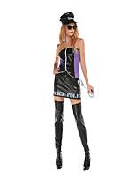 Costumes Uniformes Halloween Noir Mosaïque Térylène Robe / Plus d'accessoires