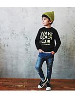 Boy's Casual/Daily Print Hoodie & SweatshirtCotton Winter / Spring / Fall Black