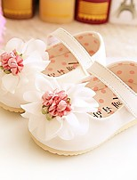 Girl's Flats Summer Ballerina / Round Toe Leatherette Casual Flat Heel Flower Blue / Pink / White / Beige Others